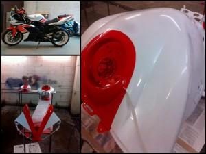 Подготовка+покраска пластика на мотоцикл