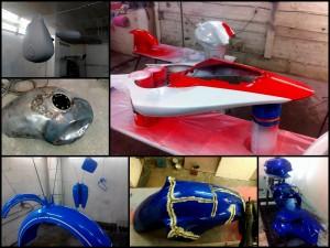 Подготовка, восстановление, покраска мотопластика