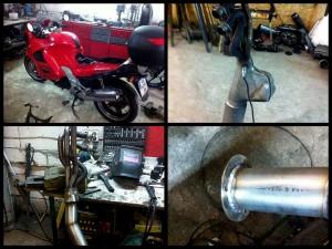 Замена выхлопной системы на мотоцикл