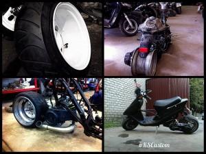 Установка розварки на скутер, мотоцикл