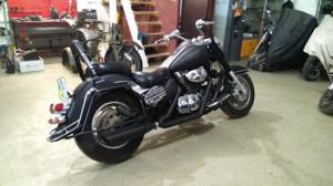 полный перекрасс мотоцикла киев