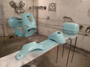 Покраска мотоцикла Vespa