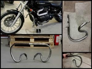 Изготовление защитных дуг на мотоцикл Suzuki Desperado